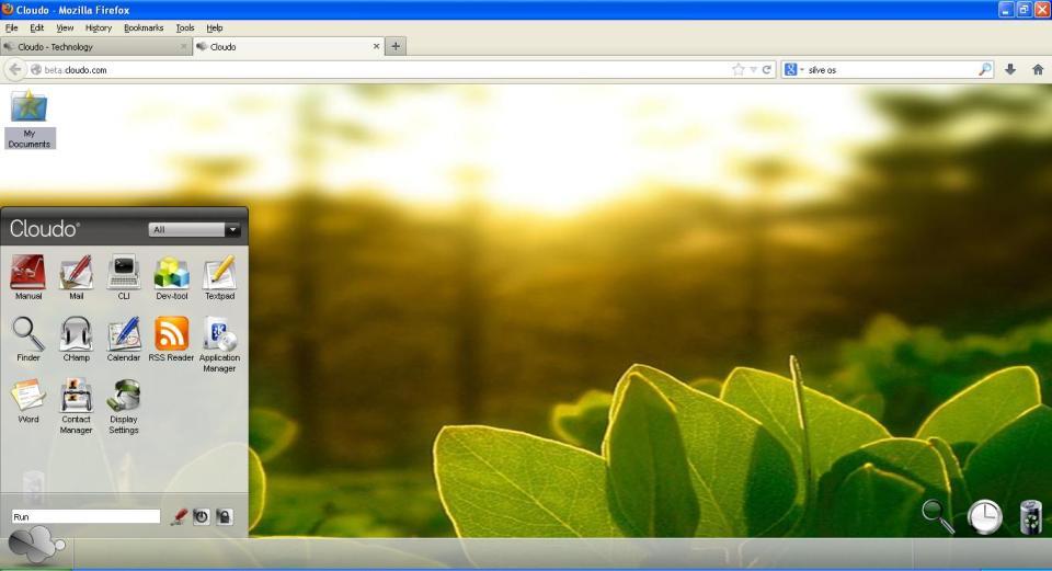 Cloudo Cloud OS screenshot