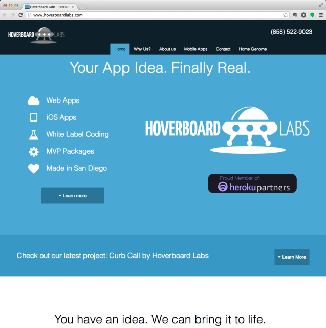 Hoverboard Labs website screenshot