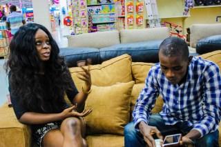 Israel Oladipupo Ogunseye and Miss Buogo Obi at the interview