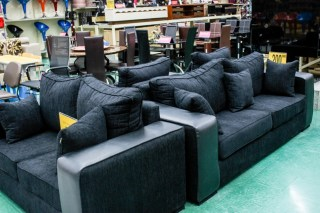 Some of Wooddesignes Furniture on display at the Game stores in Lekki