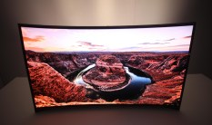 The TV with a curved screen