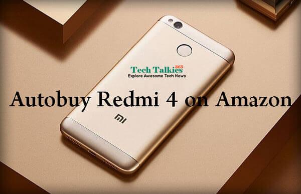 Script Trick to Autobuy Redmi 4 from Amazon and Mi flash Sale in Cart