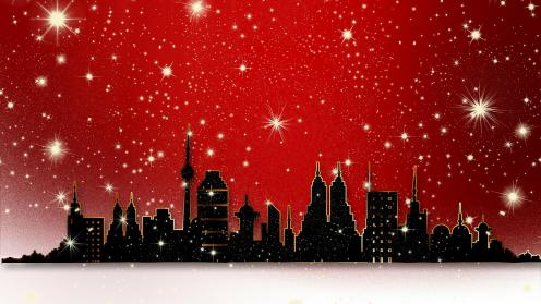 Abstract City - wallpapers for christmas