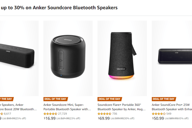 Save 30% on Anker Soundcore Bluetooth Speakers