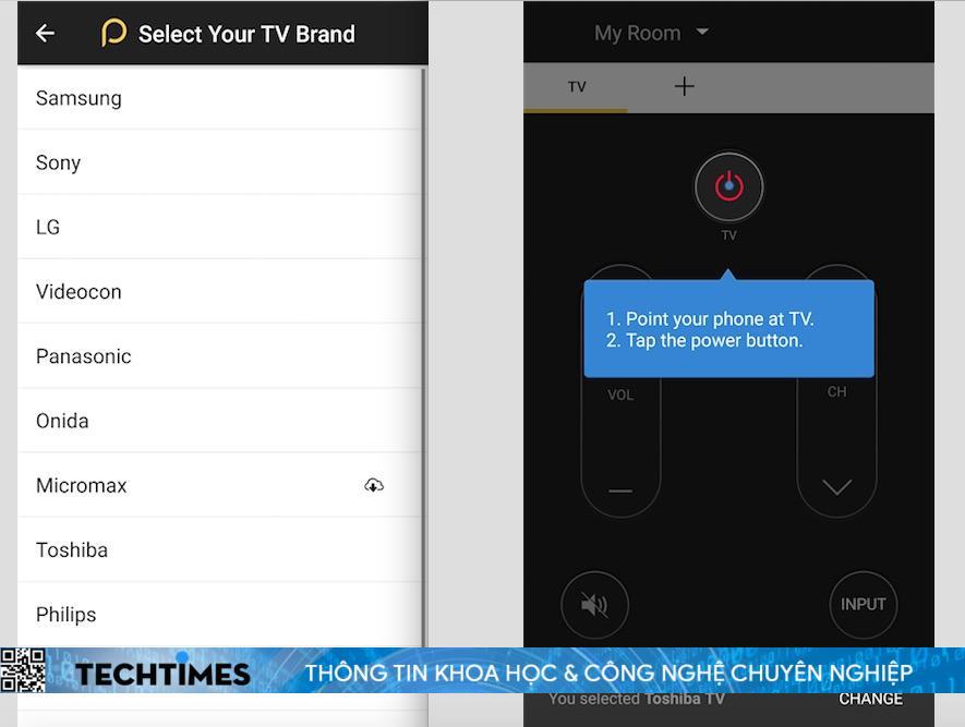 Điều khiển TV và các thiết bị điện tử trong nhà bằng điện