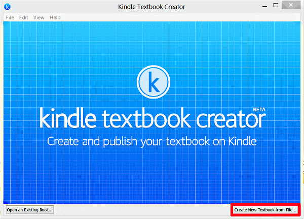 Create New Textbook from File