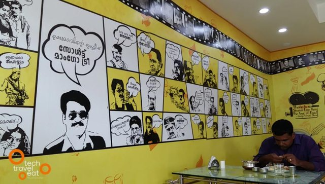 Restaurant Interior Looks Stunning with Posters having Movie Dialogues