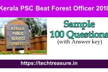 Beat Forest Officer Sample Question Paper
