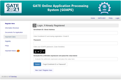 GATE 2021 application process begins