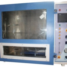 Flammability test apparatus as per UL-94, HMI
