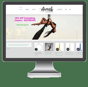 aerial silks lyra Australia web design