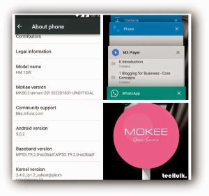 Lollipop for redmi 1s Mokee