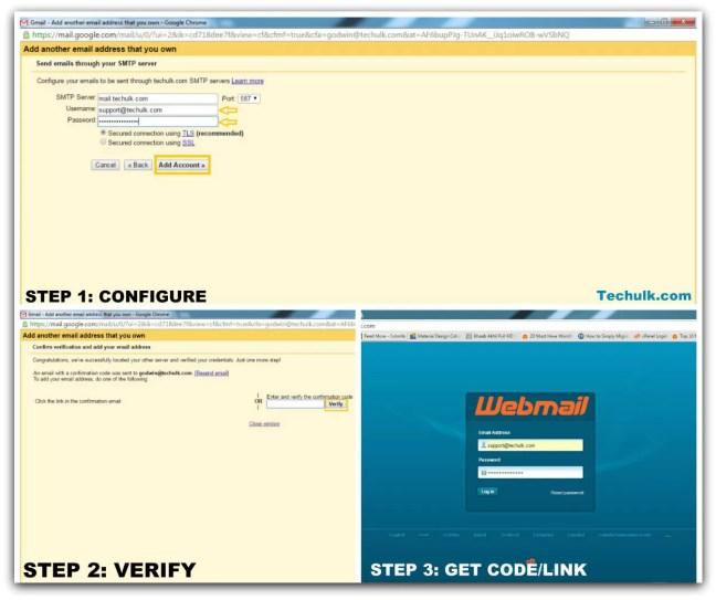 Configuring SMTP server Gmail & HostGator