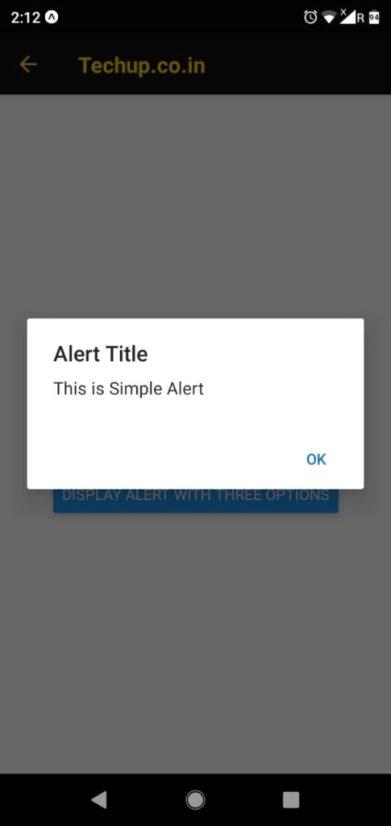 React-native alert dialog box