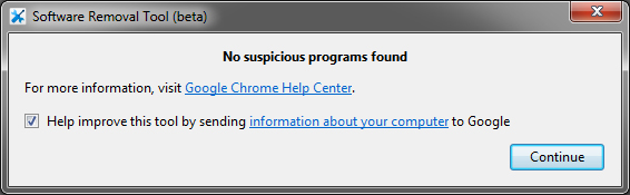 no-malicous-software-found-google-chrome