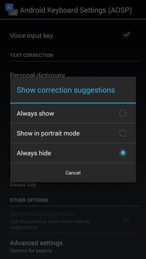 hide-show-correction-suggestions-on-android