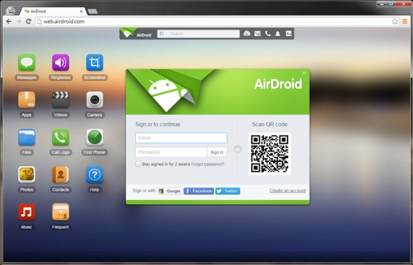 login-into-airdroid-windows