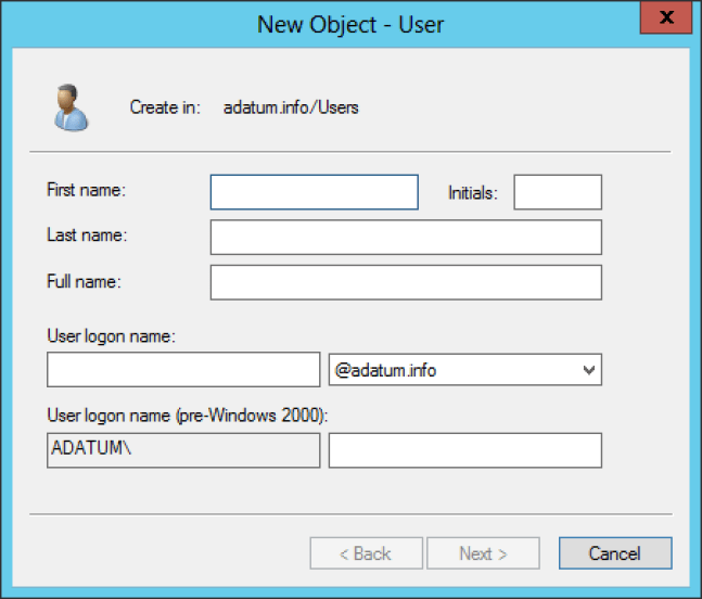 Creating user objects