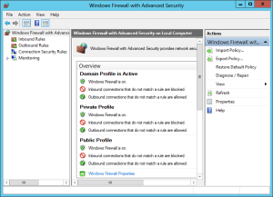 Windows Firewall With Advanced Security console 1