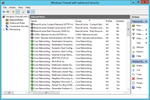 Windows Firewall With Advanced Security console 2