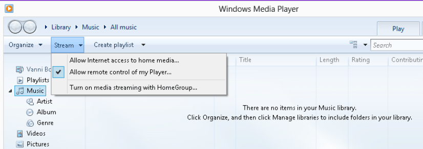 Testing sample code using Windows Media Player on a different machine