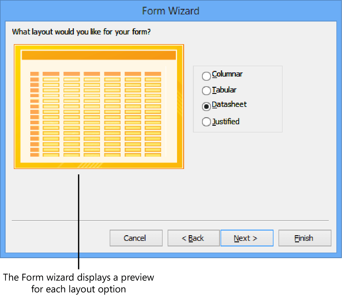 Building forms by using the Form wizard - Techveze.com