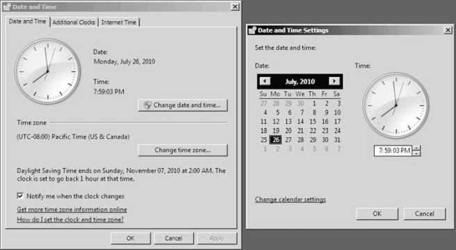 Changing date and time 1