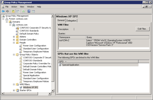 Using Security Filtering to modify GPO Scope