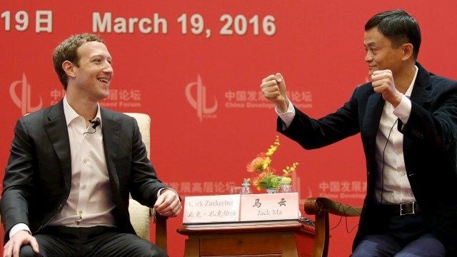 Mark Zuckerburg with Jack Ma