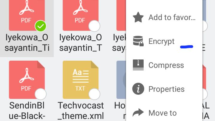 Select encrypt