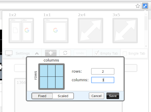 create custom grid