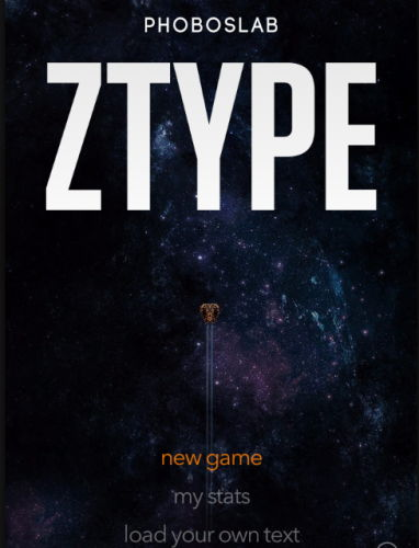 ZType- practice typing online with this typing shooting game