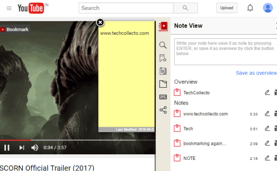 add notes to videos and use them anytime