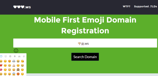 register-an-emoji-domain-service-homepage