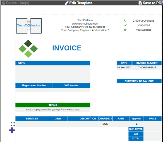 Free Online Invoice Generator Save Invoice As PDF No Sign Up Needed - Free online invoice generator