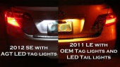 Toyota Camry LED Tag Lights