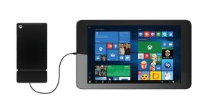 Kangaroo with Windows tablet
