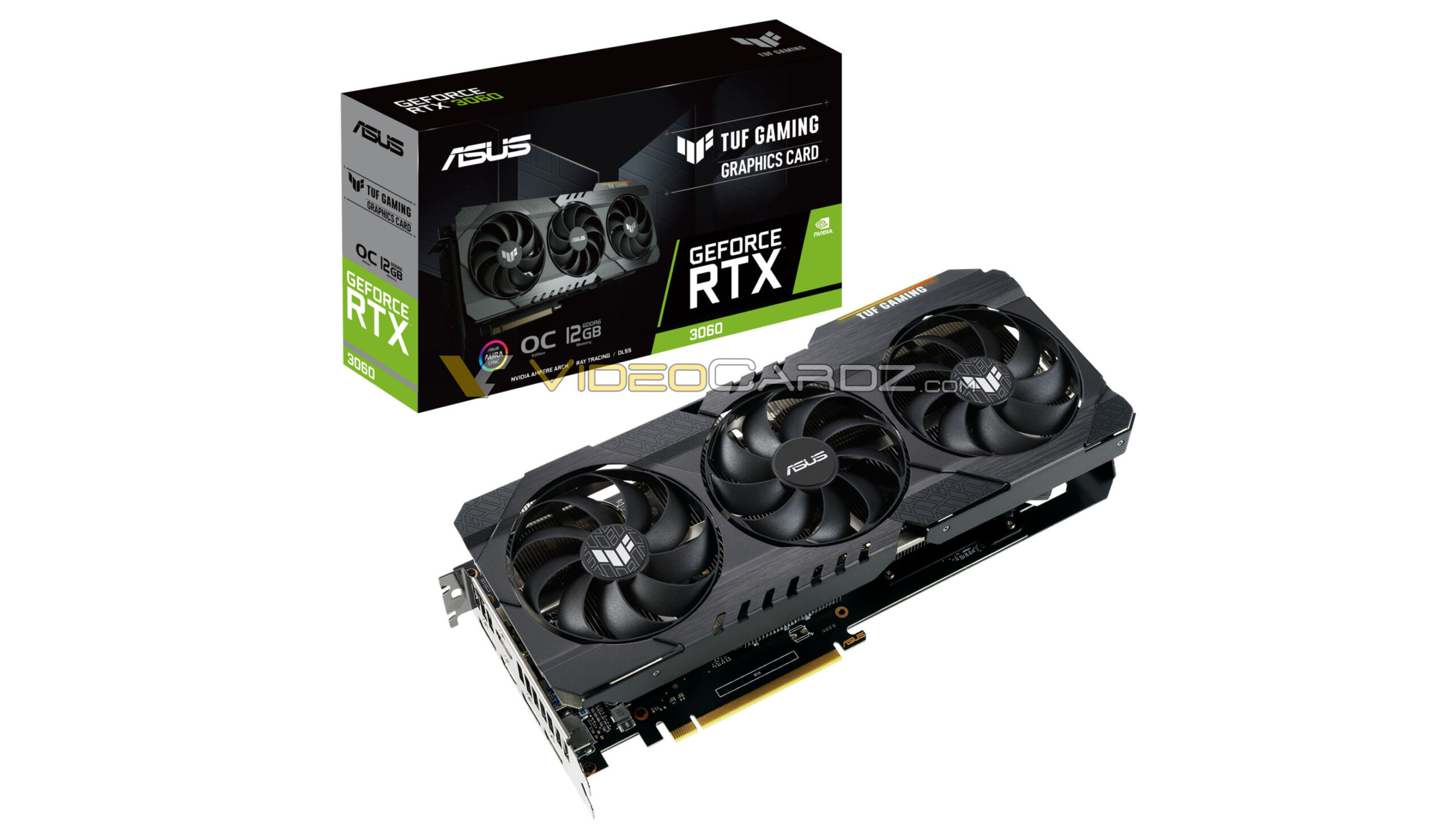 ASUS GeForce RTX 3060 TUF Gaming with 12GB gddr6 memory