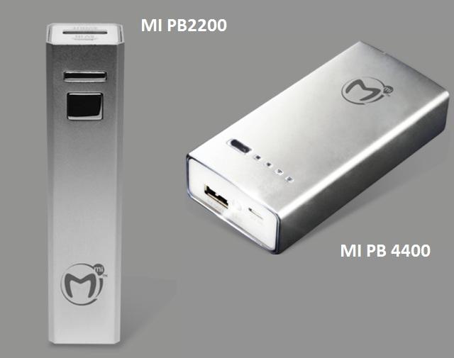 Mi PowerBank 2200 and 4400