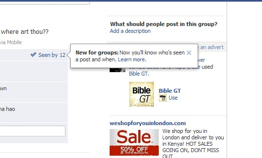 Who has seen your post groups