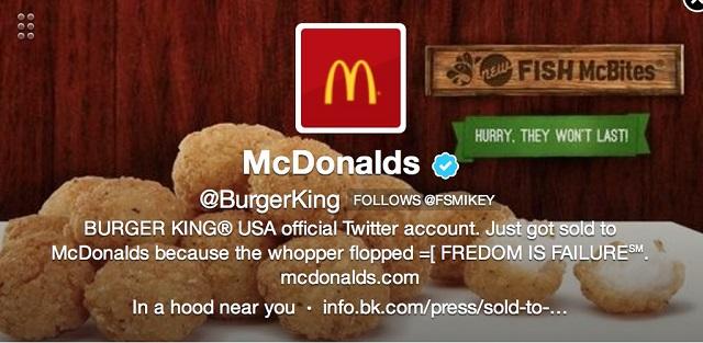 Burger King twitter Hacked