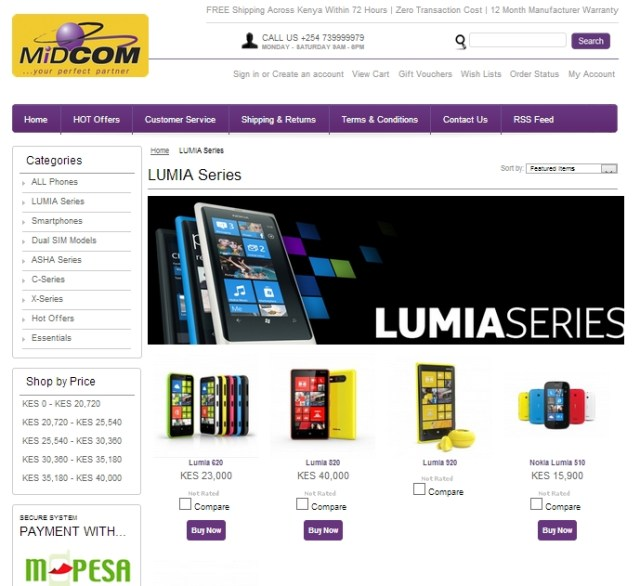 Midcom Online Sales