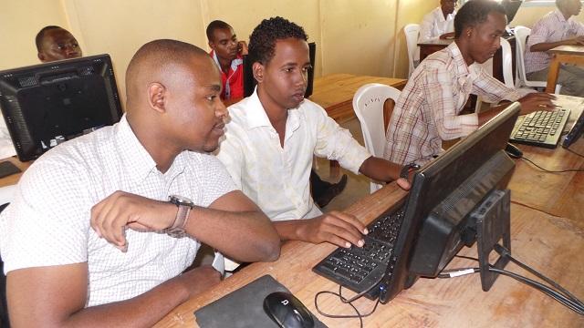Student at Wamberi Secondary School