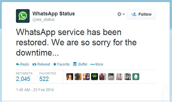 whatsapp downtime 2