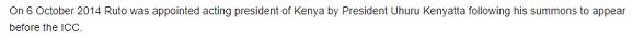 wikipedia ruto
