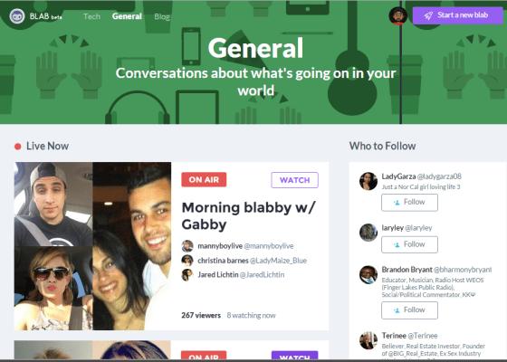 blab homepage