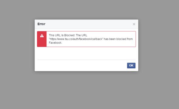 Facebook blocking Tsu links