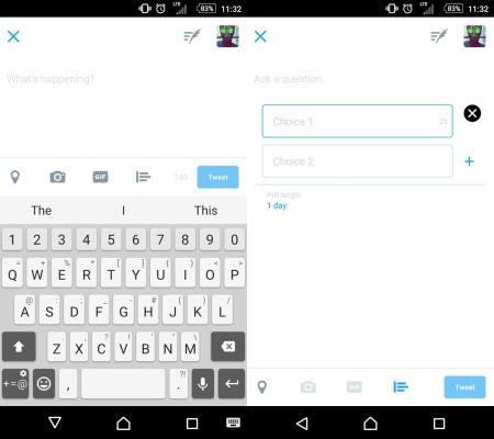 Twitter poll button change
