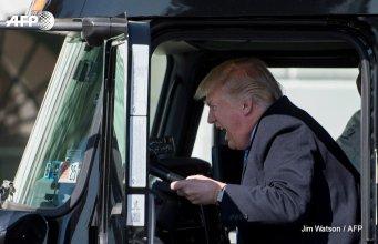 Trump on a Truck