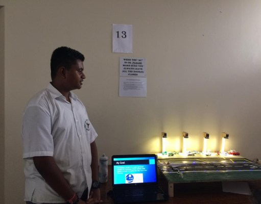 15 year old student from Aga Khan Academy created a modle for a solar powered airport for Mombasa
